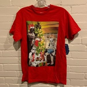 NWT Men's Small Star Wars Christmas Shirt